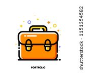 icon of briefcase for...   Shutterstock .eps vector #1151354582