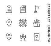 modern simple vector icon set.... | Shutterstock .eps vector #1151355818