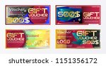 gift voucher gold template... | Shutterstock .eps vector #1151356172