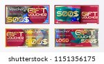 gift voucher gold template... | Shutterstock .eps vector #1151356175