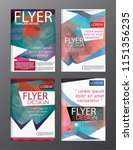 layout design template annual... | Shutterstock .eps vector #1151356235