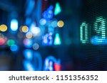 display stock market numbers...   Shutterstock . vector #1151356352