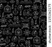 vector seamless pattern on... | Shutterstock .eps vector #1151362175