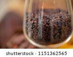 cocoa beans and cocoa pod...   Shutterstock . vector #1151362565