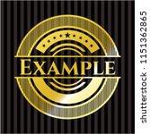 example gold badge | Shutterstock .eps vector #1151362865