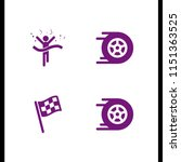 finish icon. 4 finish set with... | Shutterstock .eps vector #1151363525