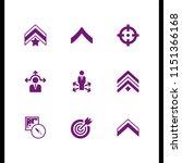 arrow icon. 9 arrow set with... | Shutterstock .eps vector #1151366168