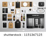 bar and restaurant fa ade brand ... | Shutterstock .eps vector #1151367125