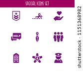 9 relationship icons in vector... | Shutterstock .eps vector #1151368982