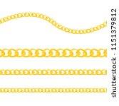 set of realistic vector golden... | Shutterstock .eps vector #1151379812