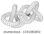 low poly knot or wire wireframe ... | Shutterstock . vector #1151381852