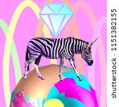 contemporary visual art collage....   Shutterstock . vector #1151382155