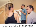 group of people listening to a...   Shutterstock . vector #1151382938