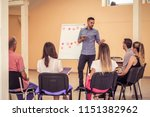 group of people listening to a...   Shutterstock . vector #1151382962