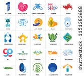 set of 25 icons such as... | Shutterstock .eps vector #1151383688