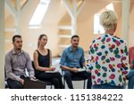 group of people listening to a...   Shutterstock . vector #1151384222