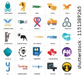 set of 25 icons such as pack...