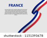 waving flag of france  vector... | Shutterstock .eps vector #1151393678
