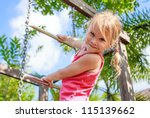 the girl on the playground | Shutterstock . vector #115139662