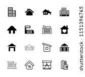 residential icon. collection of ... | Shutterstock .eps vector #1151396765
