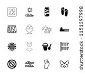 summer icon. collection of 16... | Shutterstock .eps vector #1151397998