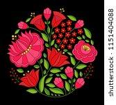 hungarian folk pattern vector.... | Shutterstock .eps vector #1151404088