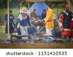omsk  russia   august 5  2018 ... | Shutterstock . vector #1151410535