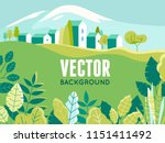 vector illustration in simple... | Shutterstock .eps vector #1151411492