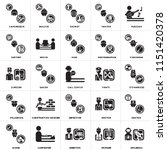 set of 25 icons such as... | Shutterstock .eps vector #1151420378