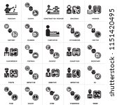set of 25 icons such as miner ... | Shutterstock .eps vector #1151420495