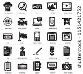 set of 25 icons such as photo...