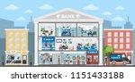 bank building interior. city... | Shutterstock . vector #1151433188