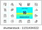 purchase icons. set of line... | Shutterstock .eps vector #1151434322