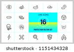 protection icons. set of  line... | Shutterstock .eps vector #1151434328