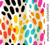 vector seamless pattern with... | Shutterstock .eps vector #1151434925