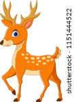 cartoon funny deer isolated on...   Shutterstock .eps vector #1151444522
