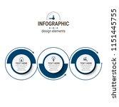 unique infographics template | Shutterstock .eps vector #1151445755