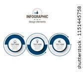 unique infographics template | Shutterstock .eps vector #1151445758