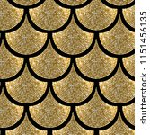 gold glitter fish scale vector... | Shutterstock .eps vector #1151456135