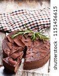 baked  belgian chocolate...   Shutterstock . vector #1151456615
