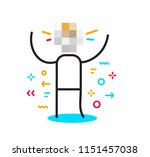 vector business illustration of ... | Shutterstock .eps vector #1151457038