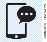 sms message in smartphone icon. ... | Shutterstock .eps vector #1151466692