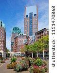 modern dutch architecture... | Shutterstock . vector #1151470868