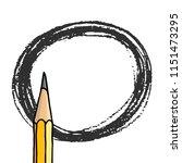 vector freeform round strokes... | Shutterstock .eps vector #1151473295