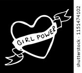 girl power quote. grl pwr hand... | Shutterstock .eps vector #1151474102