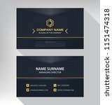 business model name card luxury ... | Shutterstock .eps vector #1151474318
