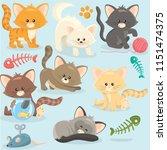 cute little kittens | Shutterstock .eps vector #1151474375
