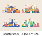 city landscape with buildings ... | Shutterstock .eps vector #1151474828