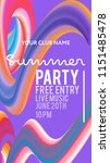 night party banner template for ... | Shutterstock .eps vector #1151485478