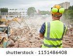 demolition construction work.... | Shutterstock . vector #1151486408